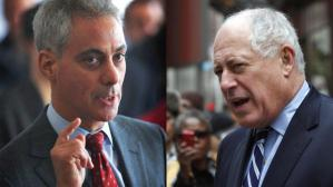Mayor Rahm Emanuel and Gov. Pat Quinn (Getty Images)